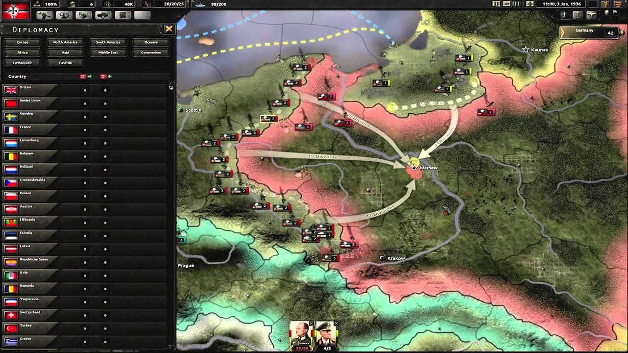 Hearts Of Iron 4 Gameplay World Premiere Youtube