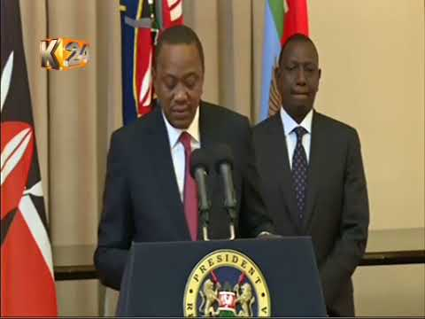 President Kenyatta addreses the nation  on the Supreme Court ruling