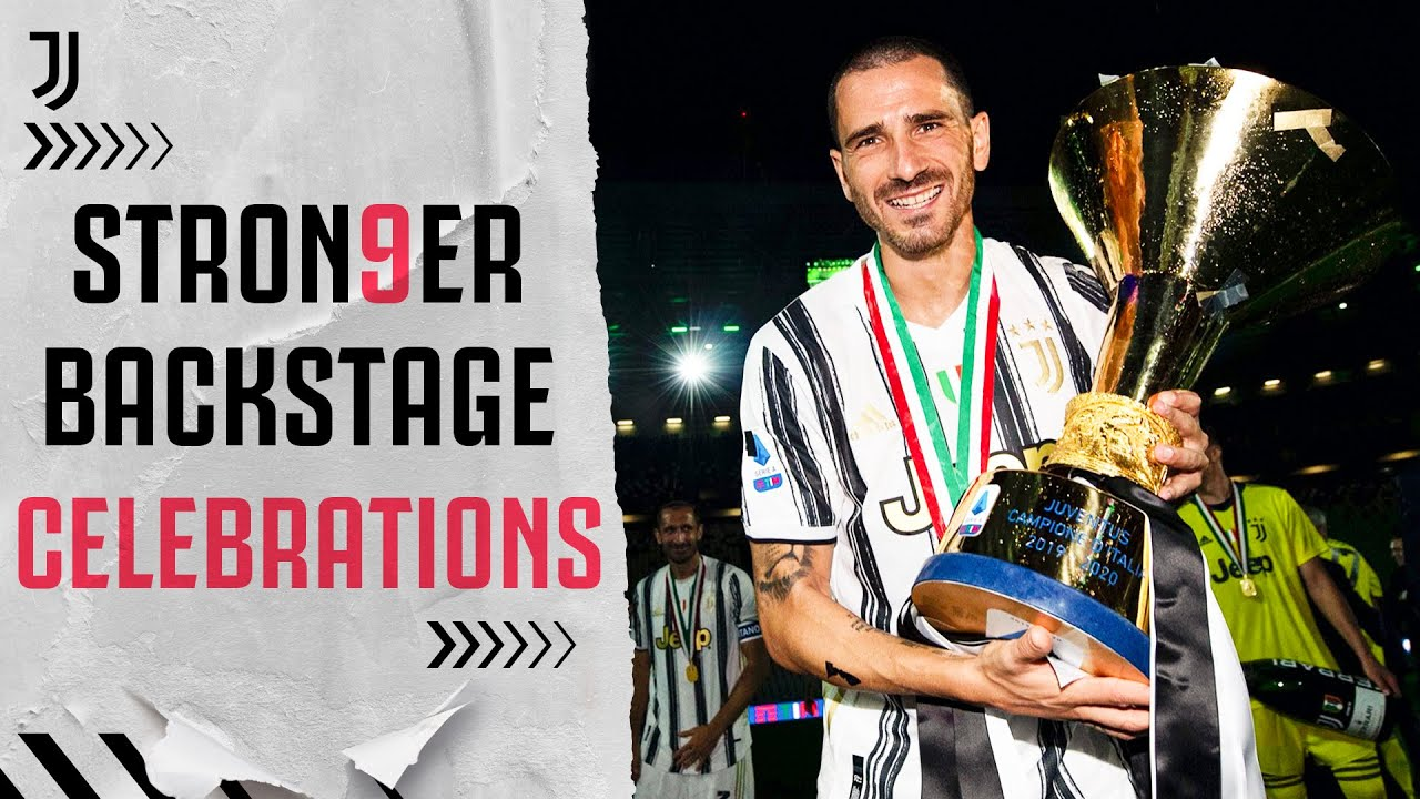 BACKSTAGE CELEBRATIONS | Behind-The-Scenes Of Juventus' Title Win! | #Stron9er