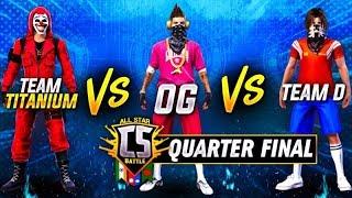 All star Clash Squad Championship | Quarter Final | Titanium vs Team D vs Og | India vs Nepal