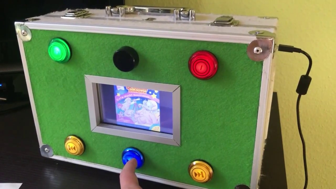 raspberry pi als junior jukebox 2 0 mp3 player f r kinder youtube. Black Bedroom Furniture Sets. Home Design Ideas
