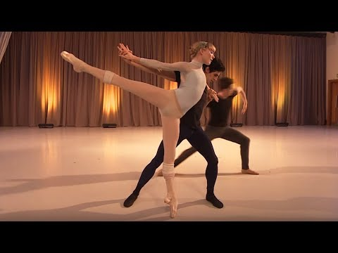 Wayne McGregor and Christopher Wheeldon rehearse ballets ins