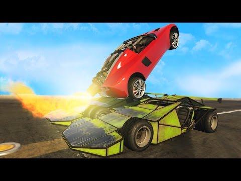 ROCKET CAR VS RAMP CAR!  (GTA 5 Online Funny Moments)