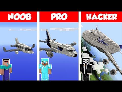 Download Minecraft NOOB vs PRO vs HACKER: AIRPLANE HOUSE BUILD CHALLENGE in Minecraft / Animation