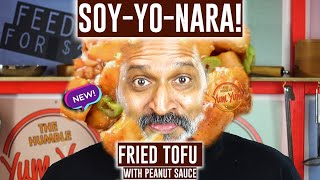 Fried Tofu Recipe | Soy-Yonara Online Recipe | Peanet Sauce Cucumbers Sprouts | Feed 4 for Under $20