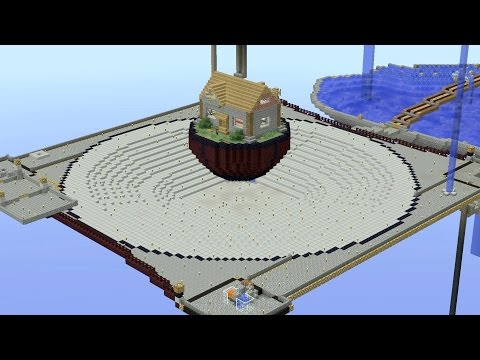 Minecraft Timelapse: Four Pillar Survival