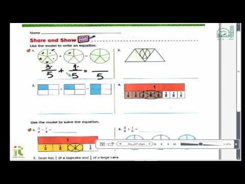 Grade 4 Math Add and Subtract Fractions