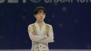 Юма Кагияма Короткая программа Мужчины Чемпионат мира по фигурному катанию 2021