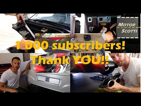 1'000 Subscribers! Thank YOU!!