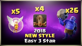 New Style: 26Bowler+5Healer+4Earthquake= Easy 3 Stars   TH11 War Strategy #175   COC 2018  