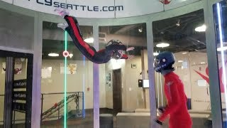 Brea goes indoor skydiving with world champion coach
