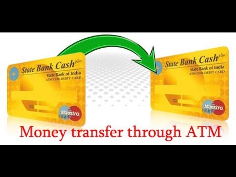 how to transfer money from sbi atm (card to card transfer )