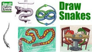How to draw snakes   Sunday Gallery Show 33 Feb 13