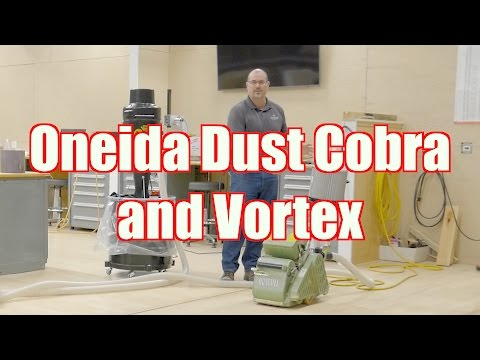 Using the Oneida Dust Cobra And Vortex on Your Hardwood Floor (Portable Dust Control)