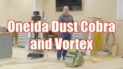 Using the Oneida Dust Cobra And Vortex on Your Hardwood Floor (Portable Dust Control)