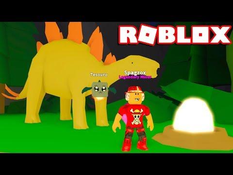 Roblox → DINOSSAUROS E NOVOS CÓDIGOS !! - Roblox Mining Simulator 🎮