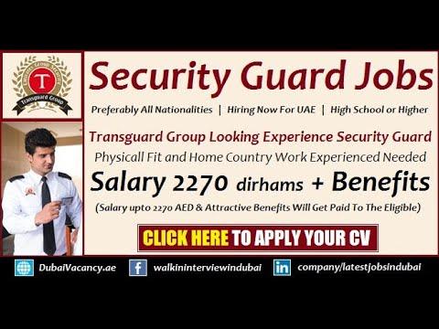Security Guard Jobs in Dubai 2019 - Latest Security Guard Vacancies