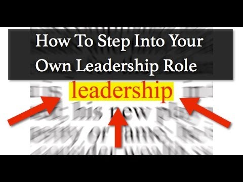 Leadership - How To Step Out Of The Shadows