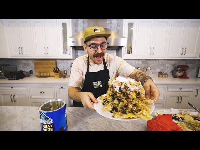making guy fieri's trash can nachos