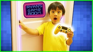 Ryan's Secret Gaming Room Tour + Nuevos VTubers gaming Channel con Ryan y Combo Panda