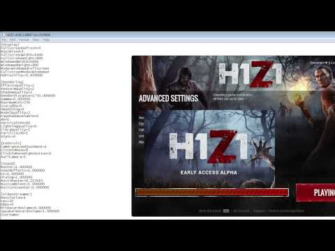 how to change h1z1 settings