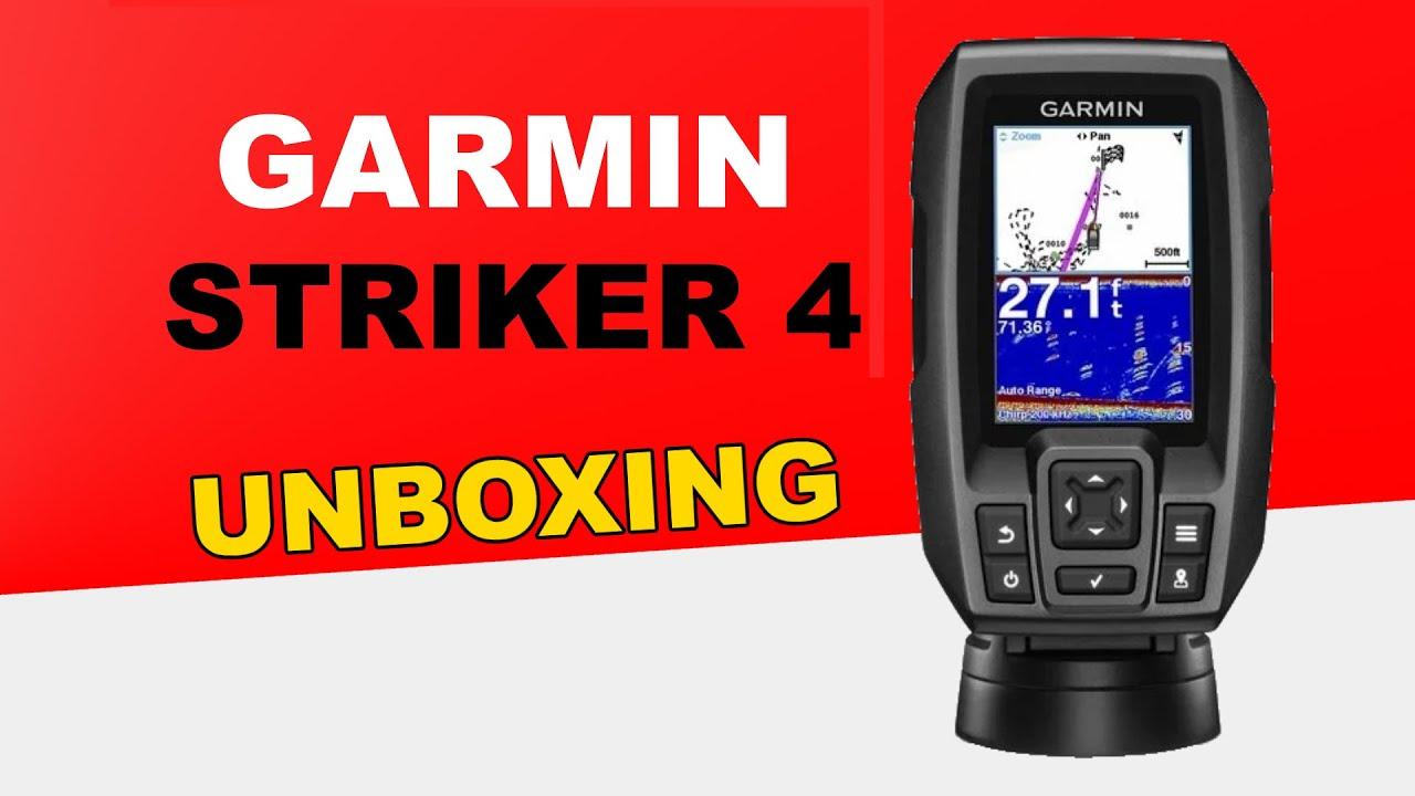 Garmin STRIKER 4 Unboxing HD (0100155001)  YouTube
