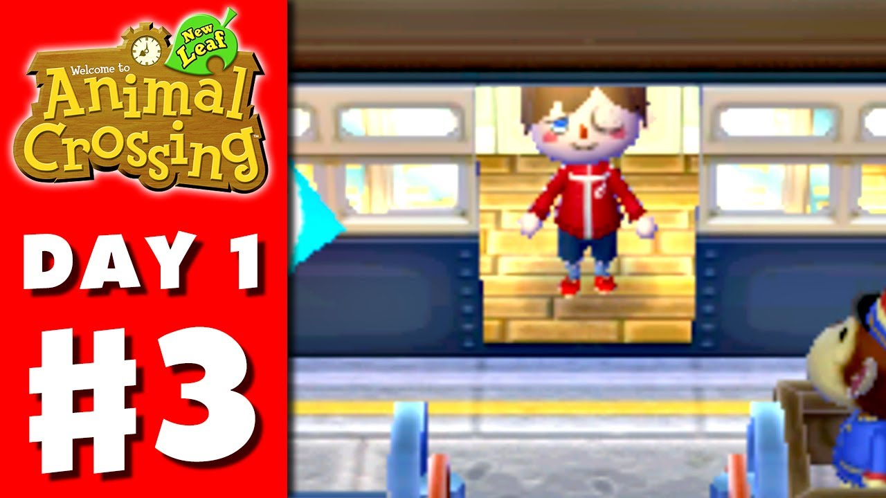 Animal Crossing New Leaf Part 3 Friends Visit Nintendo 3ds Gameplay Walkthrough Day 1 Youtube
