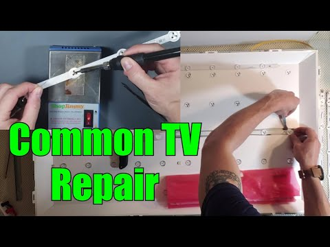 2 Ways To Fix A TV With The Black Screen Of Death BSOD, Part 2