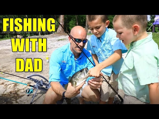 Fathers Day Fishing with DAD! Take a Kid Fishing 🎣
