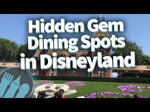 Hidden Gem Dining Spots In Disneyland!
