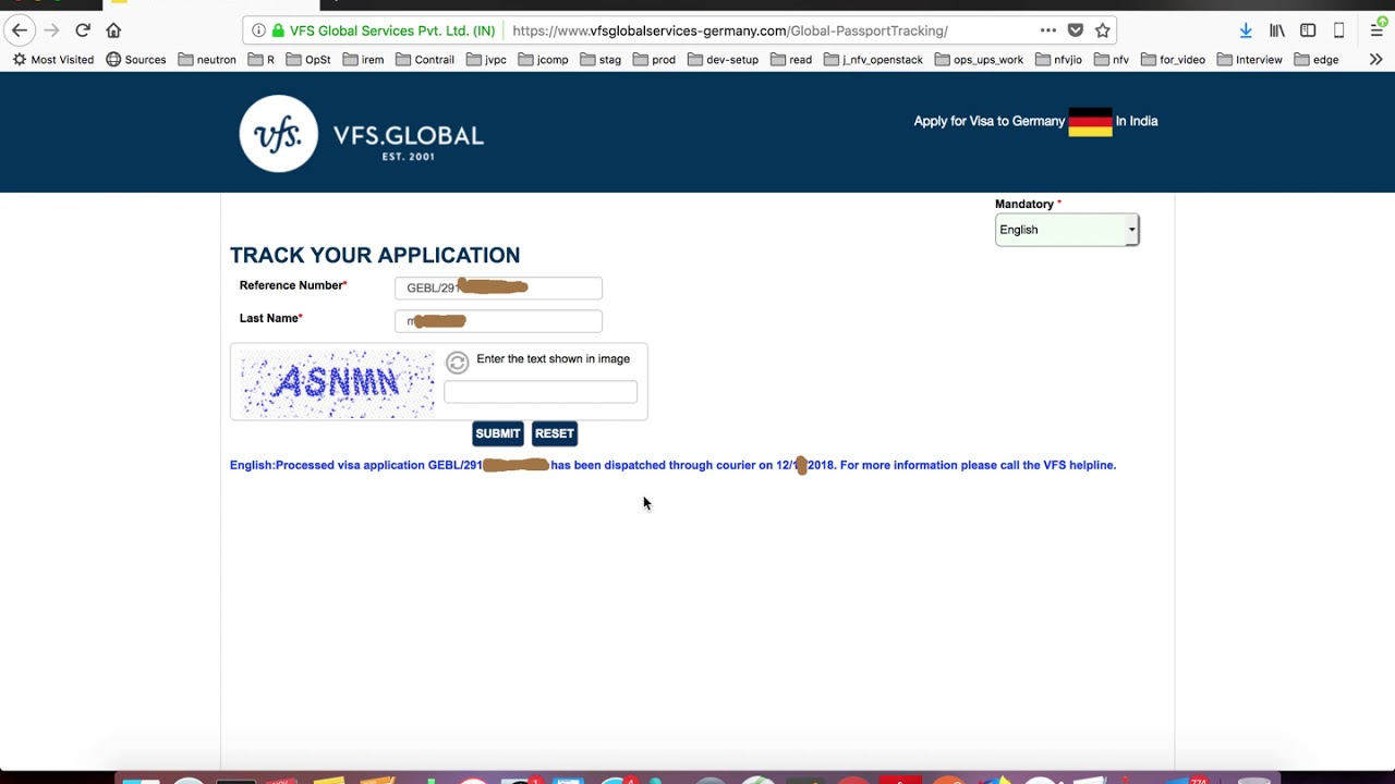 VFS Global How to Check the Status of Schengen Visa Application