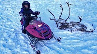 Alaska Winter Adventure - Ice fishing Camping Snowmobiling amp More