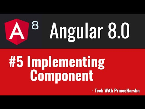 5.Angular 8 Tutorials - Implementing Component thumbnail