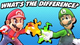 What's the Difference between Mario and Luigi? (SSBU)