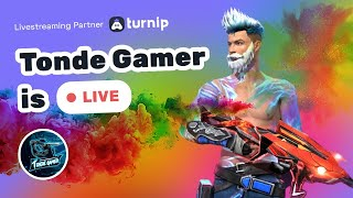 Free Fire Live Game Play & Custom Giveaway With Tonde Gamer - Happy Holi