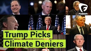 Trump's Cabinet is Full of Climate Change Deniers Donald Trump's cabinet is filled with climate change deniers tied to the oil industry. Goodbye, dear planet. Subscribe to Fusion: youtube.com/c/this isfusion?sub_confirmation=1...
