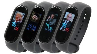 Xiaomi Mi Band 4 - как загрузить свои фото и поставить их на заставку