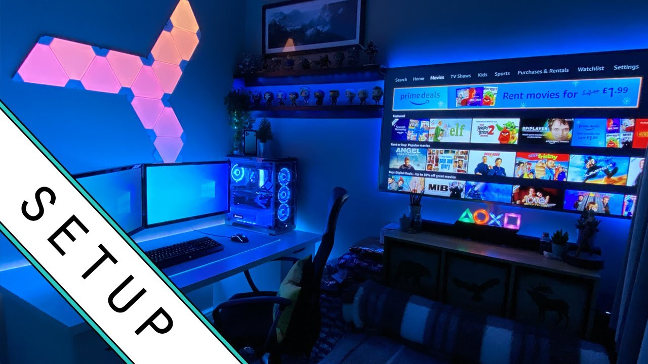 Gaming Setup Room Tour 2020 Ultimate Small Room Setup Youtube