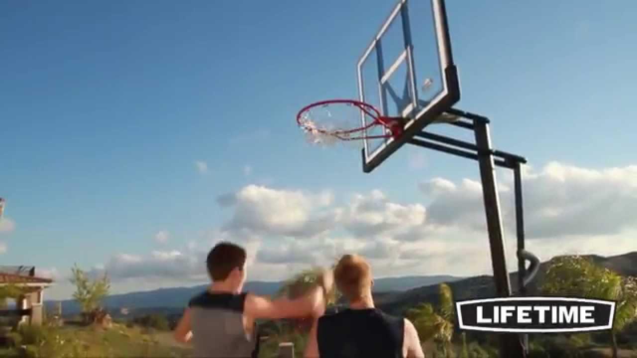 Lifetime XL Portable Basketball System (Model 90176) - YouTube