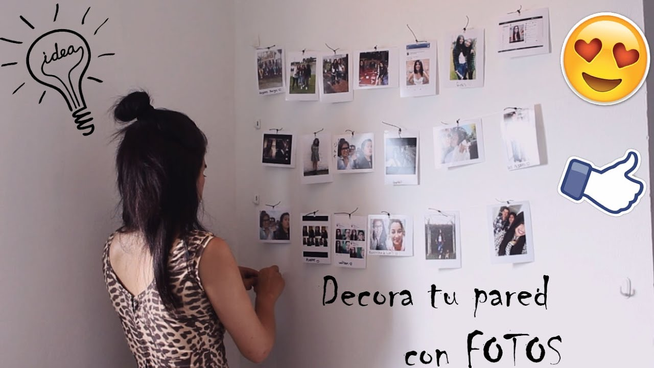 Diy decora tu pared con fotos super f cil diy youtube - Decorar paredes facil ...