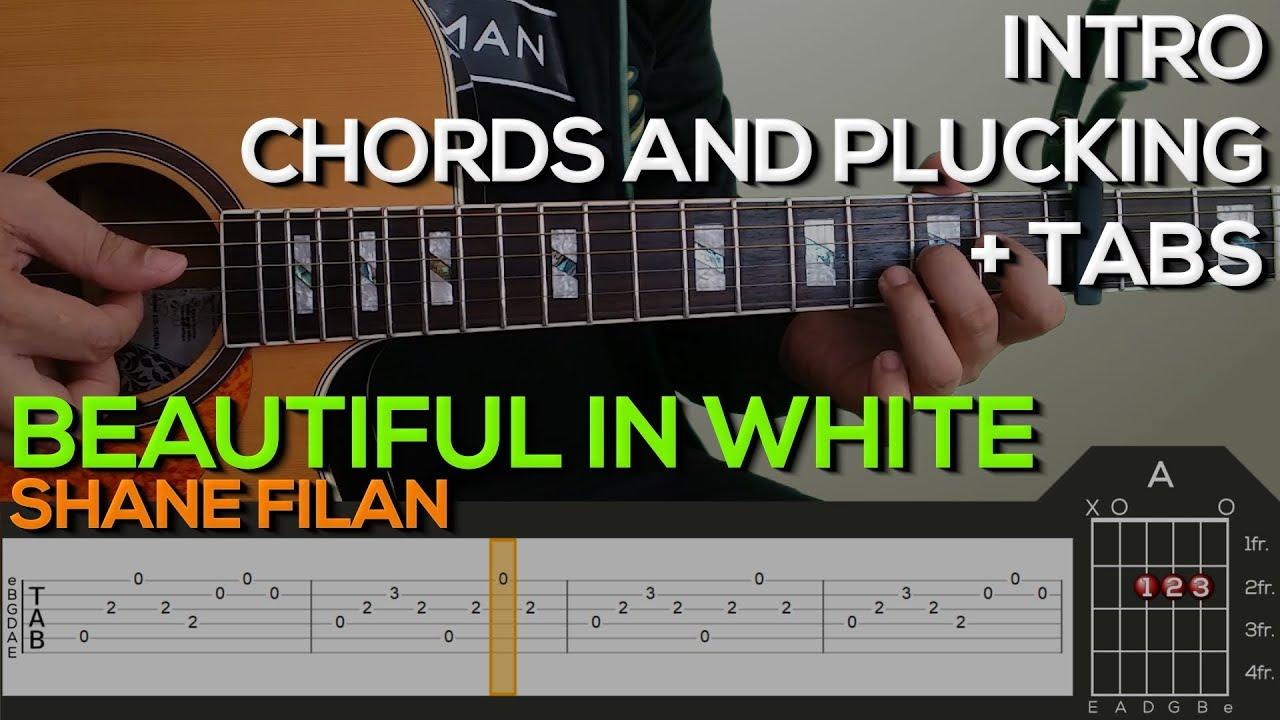Shane Filan Beautiful In White Guitar Tutorial Intro Plucking