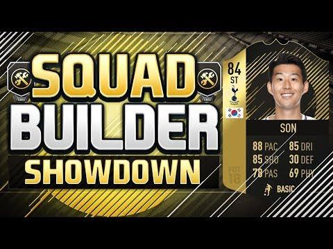 FIFA 18 SQUAD BUILDER SHOWDOWN!!! INFORM STRIKER SON!!! 84 Rated Position Change Son