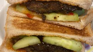 FN Vlog Uk R#207Beef kima sandwich recipeবপ কম Sandwich  রসপ