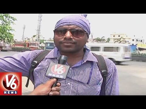 High Temperature Levels In Khammam | People Facing Problems With Summer Heat | V6 News