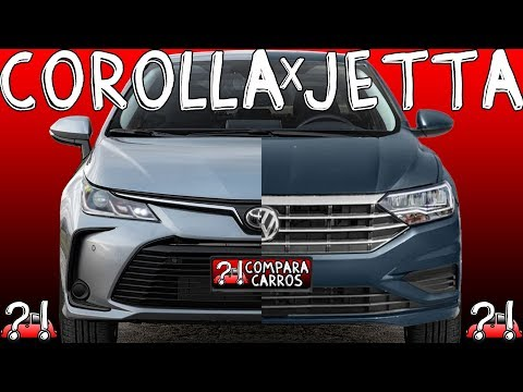COMPARATIVO Novo Toyota Corolla GLi 2.0 CVT 2020 vs Volkswagen Jetta 250 TSI 1.4 Turbo AT6 2019