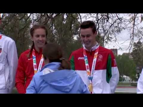 Athletes from Denmark, Italy, Switzerland and Portugal combine for Gold in Triathlon Mixed Relay