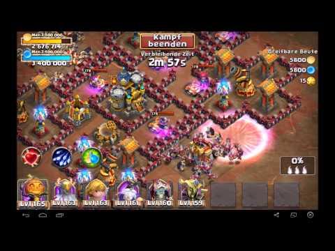 Castle Clash - 2 Ways To Speed-farm Dungeon 8