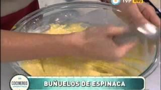 Buñuelos de espinaca y queso Parte 1