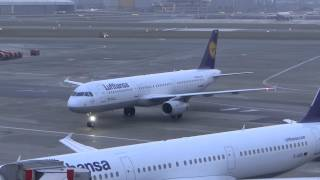 Lufthansa A321 D-AIRH arriving at the Gate at Hamburg Airport