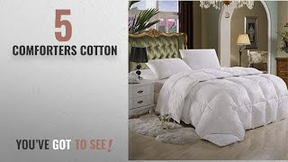 Top 10 ComfortersCotton [2018]: SUPER LUXURIOUS TWIN / TWIN XL Extra Long Size Goose Down